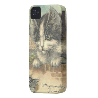 Vintage Cat and Mouse -iPhone 4/4S Case-Mate iPhone 4 Cases