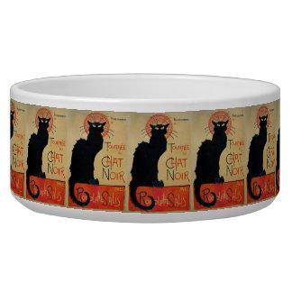 Vintage Cat Art Le Chat Noir Dog Food Bowls