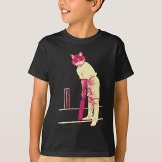 vintage cat cricketer T-Shirt