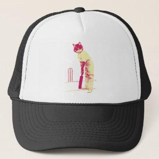 vintage cat cricketer trucker hat
