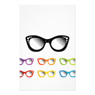 Vintage cat eye eye wear for ladies stationery