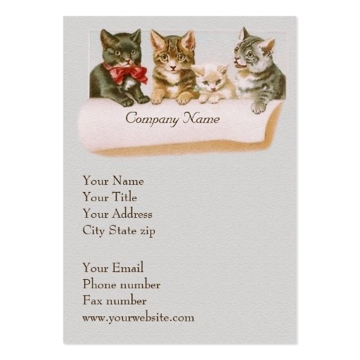 Vintage Cat Family Business Card