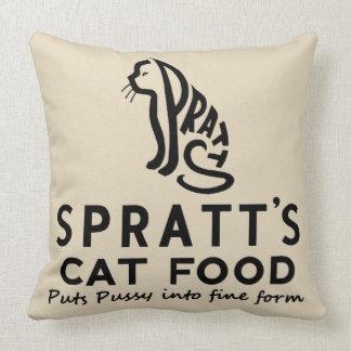 vintage cat food advert cushion