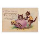 Vintage Cat Happy Easter Greeting Card