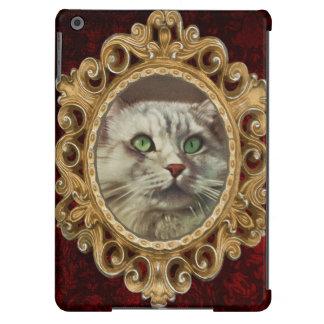 Vintage Cat Illustration, White Feline iPad Air Covers