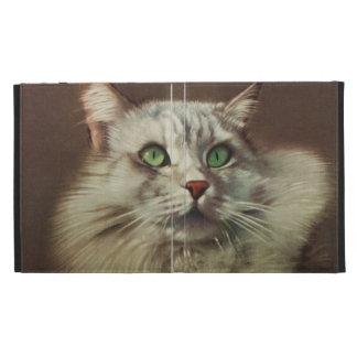 Vintage Cat Illustration, White Feline iPad Cases