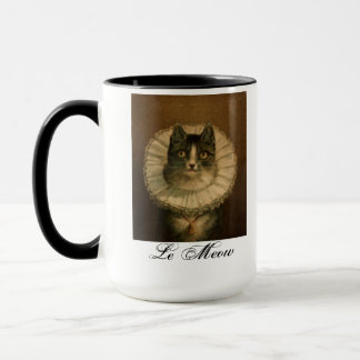 "Vintage Cat ""Le Meow"" Mug"