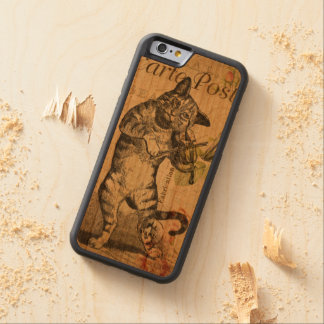 Vintage Cat Playing a Violin Cherry iPhone 6 Bumper Case