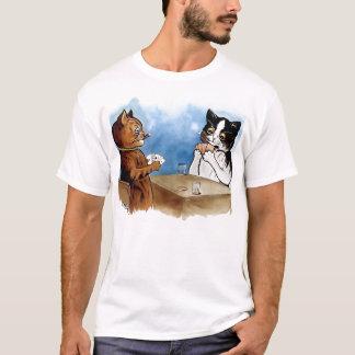 Vintage Cat Poker T-Shirt by Louis Wain
