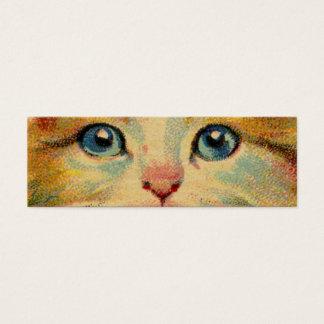 Vintage Cat Portrait Mini Business Card