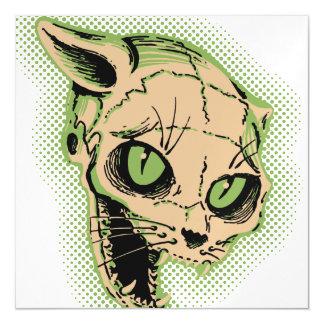 Vintage Cat Skull Magnetic Invitations