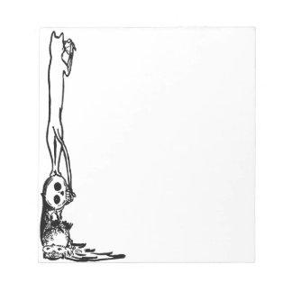 Vintage Cat, Skull & Owl  Notepad