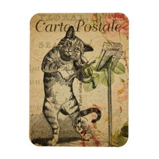Vintage Cat Theme | Carte Postale | Cat & Fiddle Magnet