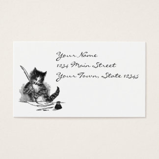 Vintage Cat Writing a Letter