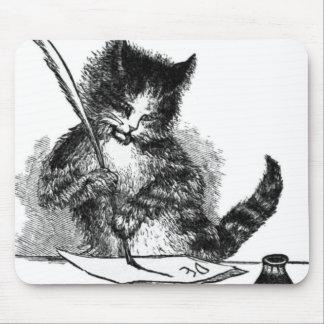 Vintage Cat Writing a Letter Mousepads