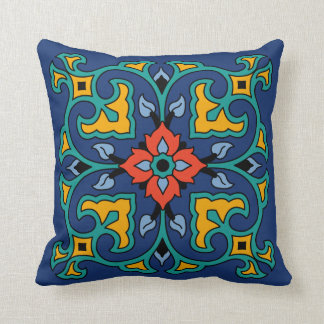 Vintage Catalina Island Tile Design Cushion