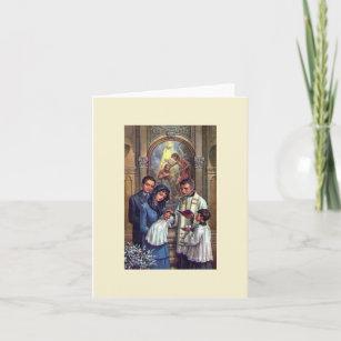 Catholic baptism cards zazzle uk vintage catholic baptism greeting card m4hsunfo
