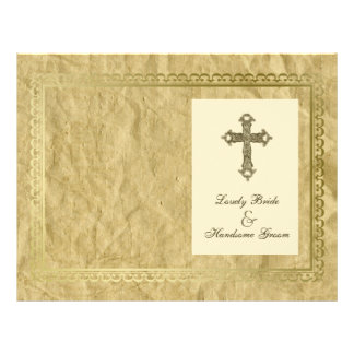 Vintage Catholic Cross Program Cover Flyer