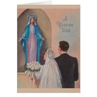 Vintage Catholic Wedding Greeting Card