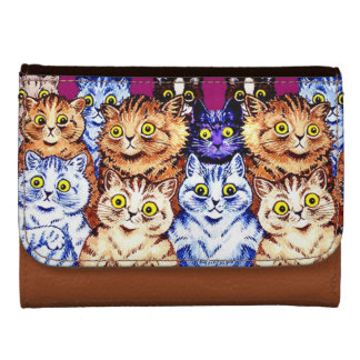 Vintage Cats by Louis Wain Leather Wallets