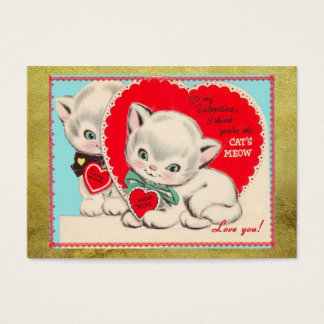 Vintage Cats Kids Valentine's Day Valentine Business Card