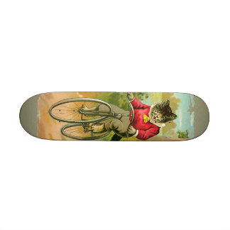 Vintage Cats on Bicycle Skateboards