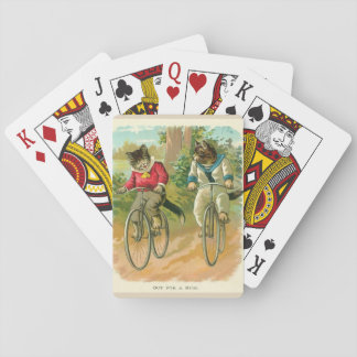 Vintage Cats on Bicycles Playing Cards