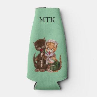Vintage Cats Rat Gift Basket Bottle Cooler