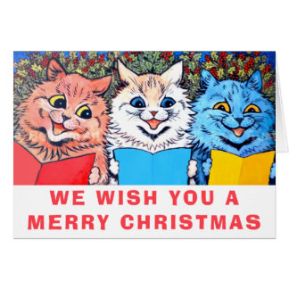 Vintage Cats Singing Christmas Carols #holidayz Card
