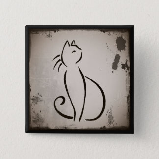 Vintage Cat's Whiskers Button