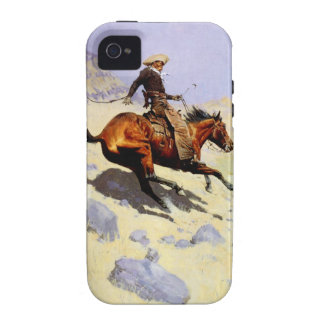 Vintage Cavalry Military, The Cowboy by Remington Case For The iPhone 4