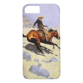 Vintage Cavalry Military, The Cowboy by Remington iPhone 8/7 Case