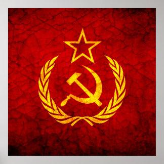 Vintage CCCP flag Print