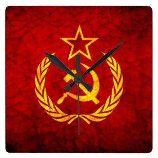 Vintage CCCP flag Wallclocks