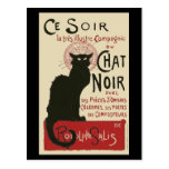 Vintage Ce Soir Le Chat Noir Poster
