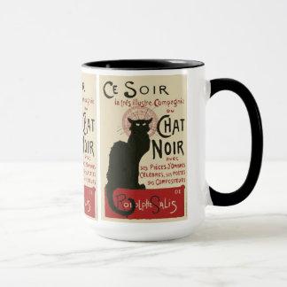Vintage Ce Soir Le Chat Noir Poster Mug