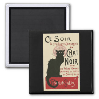 Vintage Ce Soir Le Chat Noir Poster Square Magnet