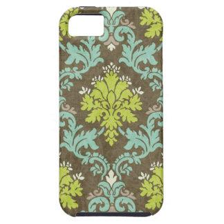 Vintage Celadon and Aqua Damask Tough iPhone 5 Case