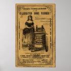 Vintage Celebrated Home Washer Advert Poster