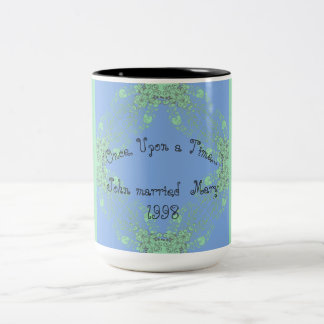 Vintage _Celebration-Template-Once Upon a Time. Two-Tone Coffee Mug