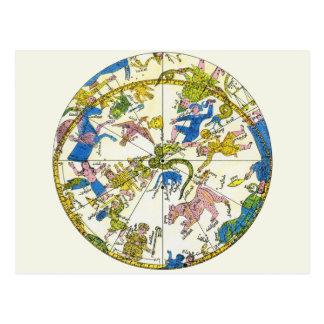 Vintage Celestial Antique Constellation Map Stars Post Cards