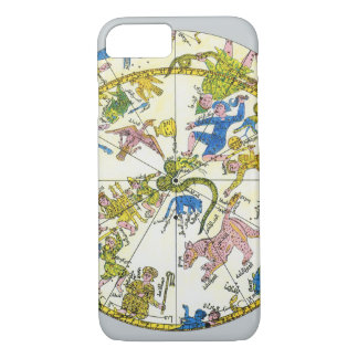 Vintage Celestial, Antique Constellation Stars Map iPhone 7 Case