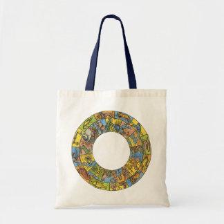Vintage Celestial, Astrological Zodiac Wheel Tote Bag
