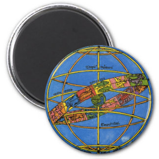 Vintage Celestial, Astronomer Claudius Ptolemy 6 Cm Round Magnet
