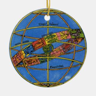 Vintage Celestial, Astronomer Claudius Ptolemy Christmas Ornament