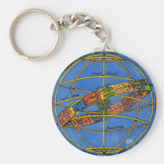 Vintage Celestial, Astronomer Claudius Ptolemy Key Ring