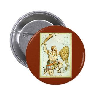 Vintage Celestial Astronomy, Orion Constellation 6 Cm Round Badge