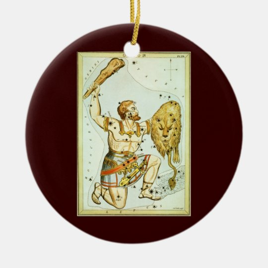 Vintage Celestial Astronomy, Orion Constellation Christmas Ornament
