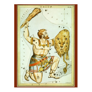 Vintage Celestial Astronomy, Orion Constellation Postcard