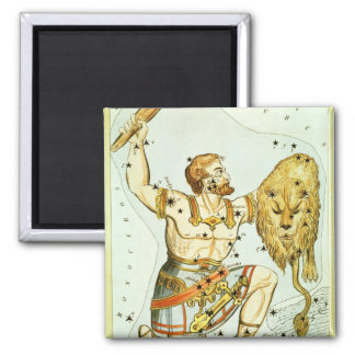 Vintage Celestial Astronomy, Orion Constellation Square Magnet